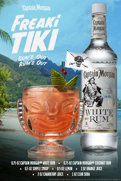 If the sun's out, the rum's out. That's it, that's all. Now go get Freaki with this Captain Morgan White Rum recipe. #SunsOutRumsOut