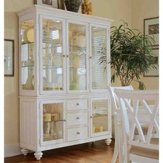 Save money on Wheelock Lighted China Cabinet by Beachcrest Home White China Cabinets, Painted China Cabinets, White Dining Room Furniture, Rustic Furniture, Furniture Ideas, Mirrored Furniture, Space Furniture, Cabinet Furniture, Furniture Storage
