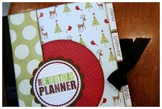 Christmas Planner! Great idea! Spots for your coupons and receipts, shopping list, wish lists, calender and a spot for your menu & grocery list if you're making dinner or hosting a party!