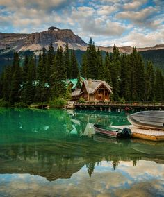 Yoho National Park, Canada Overlooking Emerald Lake, this Canadian lodge is… Places Around The World, Oh The Places You'll Go, Places To Travel, Places To Visit, Around The Worlds, Yoho National Park, National Parks, Nationalparks Usa, Lake Hotel
