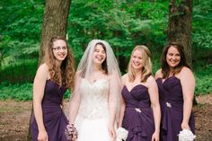 One more of Vanessa and her bridesmaids