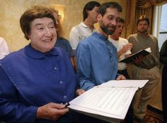 Sister Frances Carr, left, and Brother Arnold Hadd of the Shaker Village in Sabbathday Lake, Maine, sing with the Boston Camerata during a rehearsal at the Warwick Hotel in New York on Sept. Warwick Hotel, Crying Shame, 10 Year Old, The Guardian, 18th Century, Maine, Two By Two, Sisters, France