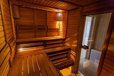 """When looking into purchasing a home sauna you might be asking yourself, """"How much does a sauna cost? The answer to this question varies depending on what type of sauna you want, the size, and location. Sauna Kits, Sauna Heater, Sauna Room, Saunas, Mini Sauna, Design Sauna, Sauna Benefits, Gym, Well Trained Mind"""