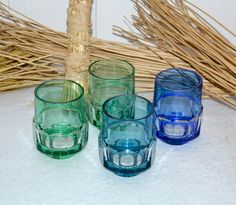 4 Gläser Farbig Kristallglas von Deep-mPree auf DaWanda.com