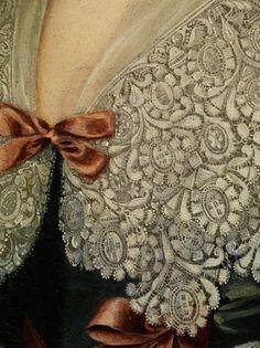Love this detail... English Queen by Cornelis Jonson van Ceulen.