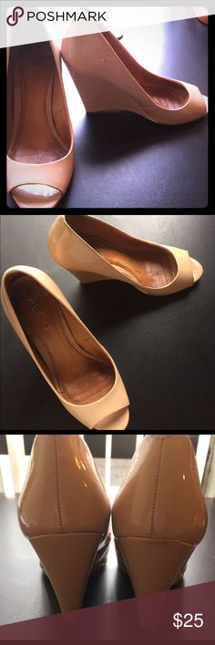 Aldo shoes These are Aldo wedges, tan color, 6.5 size, small scuffs on feels. Aldo Shoes Wedges