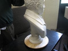 https://flic.kr/s/aHsjqBR3mn | Return of the Bust of Bishop Richard Allen | The Bust of Bishop Richard Allen, originally seen in 1876 at the United States Centennial Celebration in Fairmount Park (Philadelphia, PA) has been housed at Wilberforce University (Wilberforce, OH) since 1877. Made of imported, Italian marble, the 3' bust was commissioned by the Arkansas Annual Conference of the African Methodist Episcopal Church expressly for the Centennial. It was the only artistic representation…