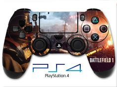 Battlefield 1 Skin PS4 Controller Skin Wrap Fire Skin Sticker Playstation 4 Skin