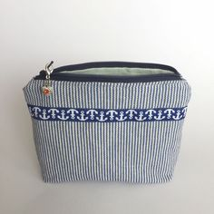 Kosmetiktasche maritime mit Herzanhänger Little Gift, Coin Purse, Purses, Wallet, Bags, Fashion, Oilcloth, Stocking Stuffers, Handbags