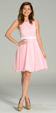 Modest Burgundy Semi Formal Chiffon Dress Knee Length A Line