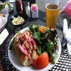 We Love Lobster Rolls with side salad - nah