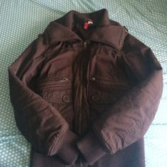 Brown Bomber Jacket great condition barely worn make offers H&M Jackets & Coats