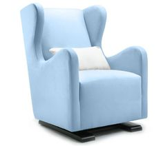 have fun designing your little boys nursery with the vola glider in light blue available blue nursery furniture