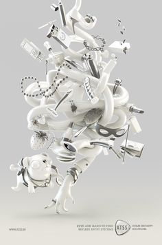 atss - keys are hard to find by denzil machado, via Behance #3D,#design,#digital,#art,#CG,#keys,#white
