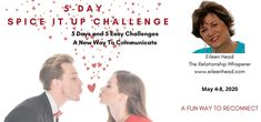 """This is a Free, Fun, Relationship Challenge  These daily challenges are to engage your partner in a positive way so that you can start to have fun together again.  Forget all the """"Stuff"""" and just decide to give your partner some positive reinforcement and see what happens. I have seen relationships absolutely shift.  Discover that there is still some H E A T there  #love #free #relationships #couples #personalities #enneagram #soulmate #relationshipwhisperer"""