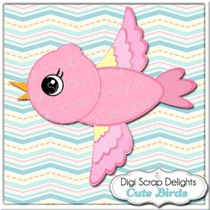 Cute Birds Clip Art Scrapbook Kit for Card making, etc by DigiScrapDelights