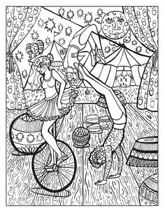 A Day at the Circus coloring page on Behance color pages