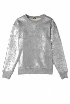 foil printed sweatshirt by joseph