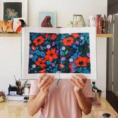 Sketchbook de Josefina Jiménez (@jojimenez) • Pattern de flores marinas, pintado con acrilico sobre papel Paper Envelopes, Flowers
