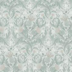 Thistle by Boråstapeter - Soft Green - Wallpaper : Wallpaper Direct Wallpaper Online, Of Wallpaper, Designer Wallpaper, Accent Wallpaper, Pattern Wallpaper, Grey And Green Wallpaper, Green And Grey, Grey Floral Wallpaper, Thistle Wallpaper