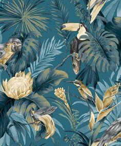 Tapeta CRISTIANA MASI AMAZZONIA 22008 Hall Wallpaper, Wallpaper Paste, Wallpaper Online, Minimalist Drawing, Minimalist Wallpaper, Tan Walls, Sunset West, Thing 1, Pacific Blue