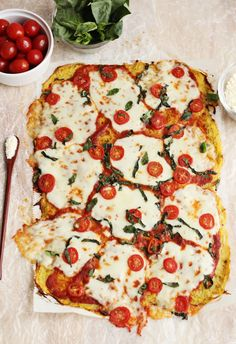 Spaghetti Squash Pizza Crust  I will try it with a flax egg and Daiya cheese.