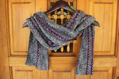 My scarf. Made with tosh merino light (Charcoal, Lepidoptra, Compositon Book Gray) Ravelry: Mycenia's Tosh Crochet Granny Scarf