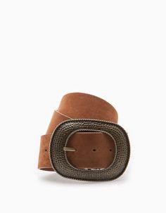 Cinturon ancho cowboy - COMPLEMENTOS - MUJER  34aa628e22ba