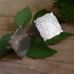 Lancelot, boutons de manchette en argent de style celtique
