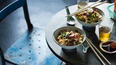 Wok-tossed rice noodles with char siu and egg (hu tieu xao xa xiu) | Noodle…