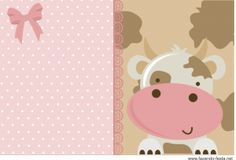 Cow in Pink: Free Printable Kit. Farm Animal Party, Farm Party, Party Printables, Free Printables, Free Printable Banner, Oh My Fiesta, Baby Scrapbook, Free Prints, Baby Shower Parties