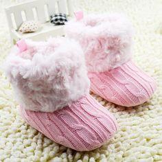 Aliexpress.com: Comprar Crochet infantil / Fleece Knit Boots Muchacha del niño de la nieve de lana zapatos del pesebre 5 colores 0 18 meses del bebé del envío gratis de zapatos de bebé a la venta fiable proveedores en Fairy Tale *