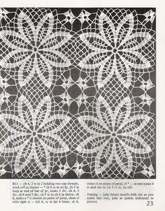Crochet flower sample units (quads 8 petals) - Water Heart clouds - clouds of water heart blog