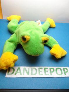 TY Beanie Baby Babie Smooches Frog Original stuffed animal 1997 find me at www.dandeepop.com