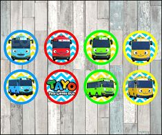 Ideas For Birthday Cake Illustration Cupcake Toppers Tayo The Little Bus, Birthday Cake Illustration, Party Food Labels, Triangle Banner, Birthday Gifts For Husband, Water Party, Cupcake Party, Birthday Diy, Cake Birthday