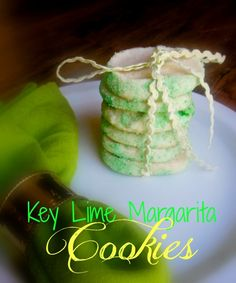Melt in Your Mouth Key Lime Margarita Cookies