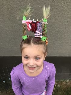 25 ideas hair styles for kids girls schools crazy hair day 3 Crazy Hair Day Girls, Crazy Hair For Kids, Crazy Hair Day At School, Days For Girls, Crazy Hat Day, Crazy Hats, Crazy Socks, Kids Girls, Little Girl Hairstyles