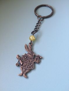 Porte clef lapin d'Alice - Alice in Wonderland - Once upon a time