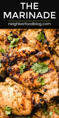 This may be the ONLY chicken marinade you'll ever need. This Mexican Chicken Marinade makes wonderful juicy and flavorful grilled chicken, just like the sizzling goodness of a chicken fajita skillet! Mexican Chicken Marinade, Mexican Grilled Chicken, Chicken Marinade Recipes, Mexican Chicken Recipes, Chicken Marinades, Grilling Recipes, Beef Recipes, Grilled Chicken Fajitas, Kraft Recipes