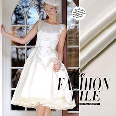 Heavy White Silk/Cotton Satin Dress Fabric $15.40