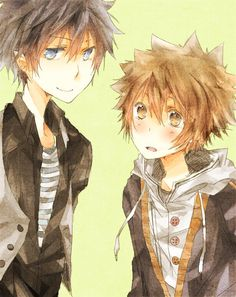 Tsuna and Rin Okumura a cute couple