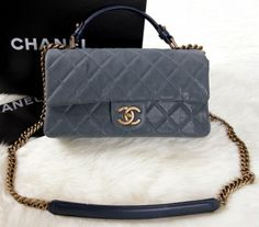 4ee03316be8d CN0081 Chanel Classic Original Cannage Patterns Top Flap Bag A1235 Light  Blue