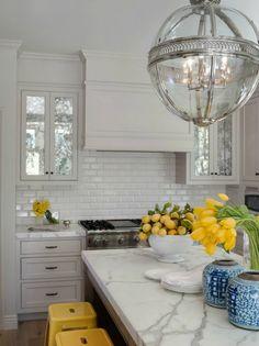 NookAndSea-White-Kitchen-Mustard-Yellow-Blue-Combo-Lamp-Light-Pendant-Chandelier-Metal-Clean-Crisp-Tile-Lemons-Daffodils