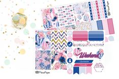 Planner Sticker Weekly Kit Indigo Balloons for your Erin Condren Life Planner…