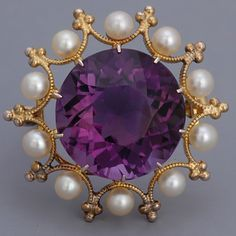 Antique Jewelry Victorian Amethyst Brooch