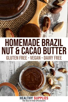 Great addition to ice creams or desserts. Cacao Butter Recipes, Homemade Nut Butter Recipes, Nut Recipes, Real Food Recipes, Healthy Crisps, Healthy Snacks, Cheese Alternatives, Dried Bananas, Plant Based Breakfast