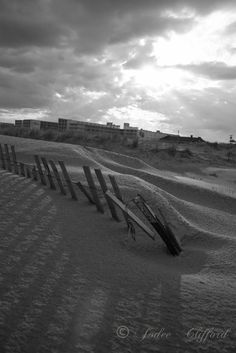 Rays of sunlight and shadows over dunes | Black & White Photography {Shore monochrome Wildwood Crest fine art photo} by luckystardreams #luckystardreams #astro #gifts #dreamy #celestial