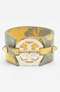 Tory Burch Print Leather Bracelet available at Nordstrom Girls Accessories, Jewelry Accessories, Fashion Accessories, Gold Jewelry, Jewelry Rings, Jewlery, Jewelry Box, Fine Jewelry, Victorian Shoes