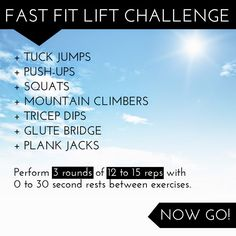 Fast Fit Lift Challenge 3 | the fit lift