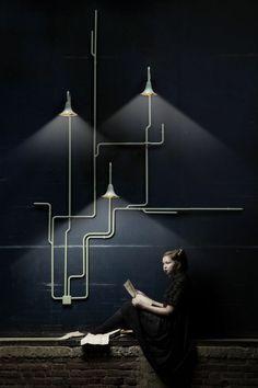 indirekte beleuchtung decke dunkeles interior design licht